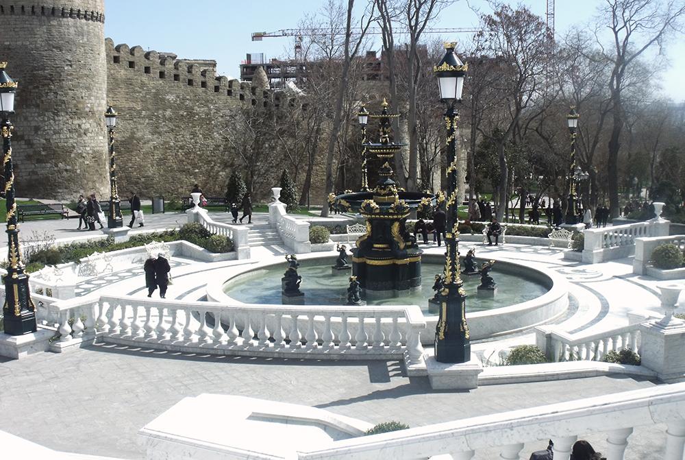 Wiedeńska fontanna w Baku, Azerbejdżan, fot. B.Wudniak