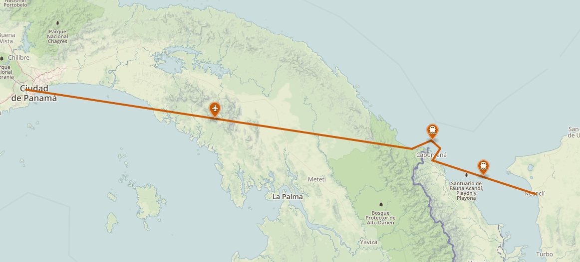 granica panama kolumbia